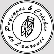 """Logo de l'Entreprise """"Paysages et crèches de Laurence"""""""