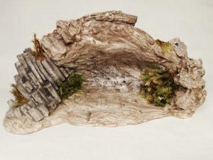 Grotte ornée d'Orgues Basaltiques  Prix: 12,5 €  Dim:  20 x 10 x 9  cm  Poids approximatif: 690 g