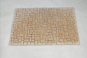 Place pavée rectangulaire  Cet élément peut s'adapter aux demi places circulaires. Prix: 5 € Dim: 25,5 x 16 x 0,8 cm Poids approximatif: 400 g